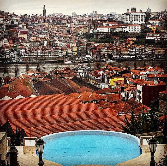 Vista da cidade do Porto do Yeatman Hotel