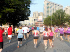 Running down Peachtree street with the masses.