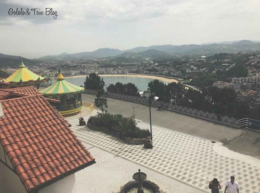Vistas de la bahía de la Concha desde el Monte Igueldo