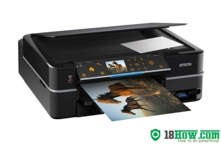 How to reset flashing lights for Epson TX720WD printer