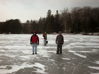 Checking out the ice on the Black Moshannon State Park lake
