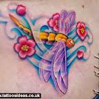 dragonfly flower tattoo l