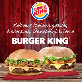 Karácsonyi marketing anyag grafikai tervezése a Burger King-nek.