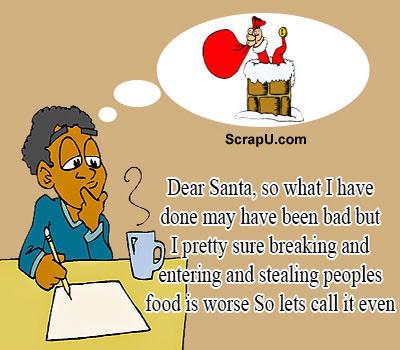 Funny Santa Claus Cards