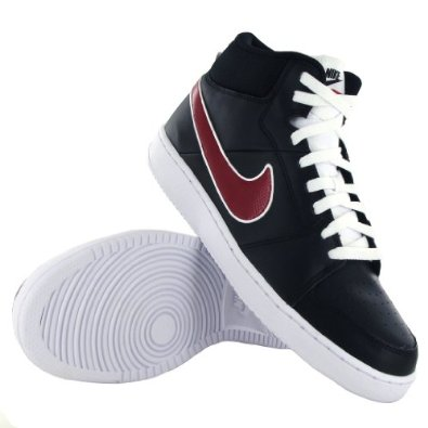 3849602a03 Reviews Nike Backboard 2 Mid Black Red Leather Men Trainers ...