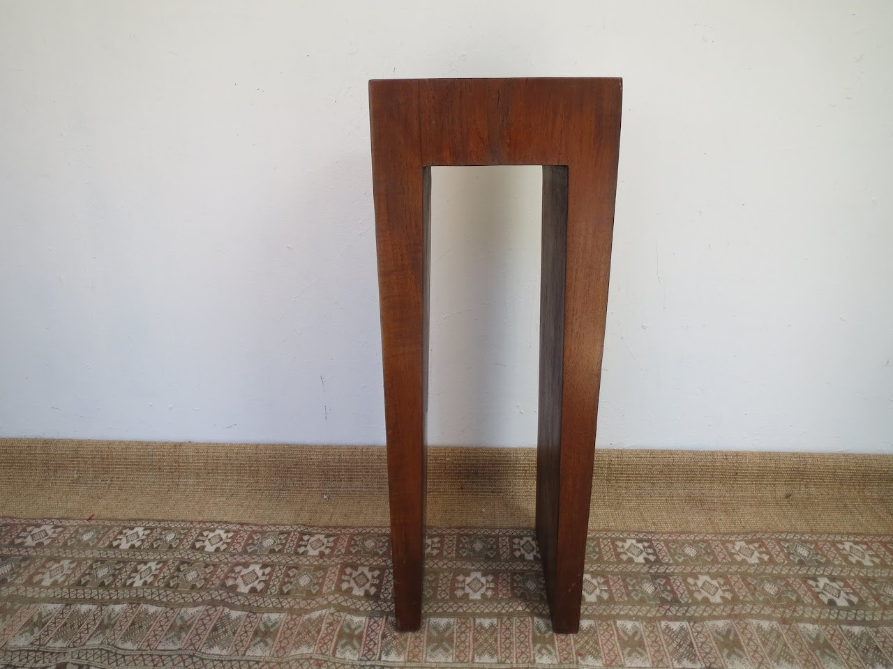Solid Wood Side Table (Dark)