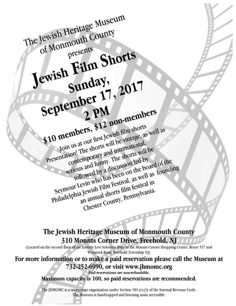 Jewish Film Shorts Festival