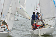 J/22 one-design class sailing Annapolis