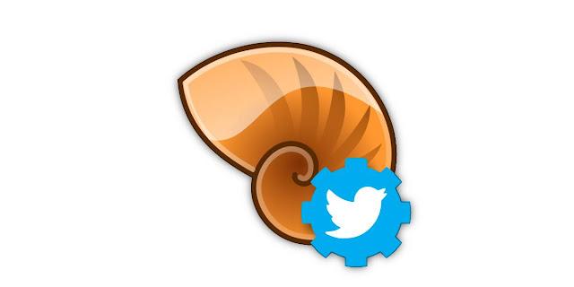 Publicar en Twitter desde el escritorio. Logo.