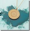 Gold Vermeil Aztec Coin Pendant