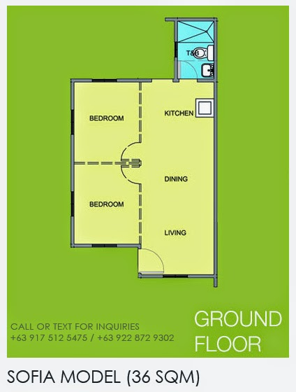 Floor Plan of Sofia - Camella Lessandra General Trias | House and Lot for Sale General Trias Cavite