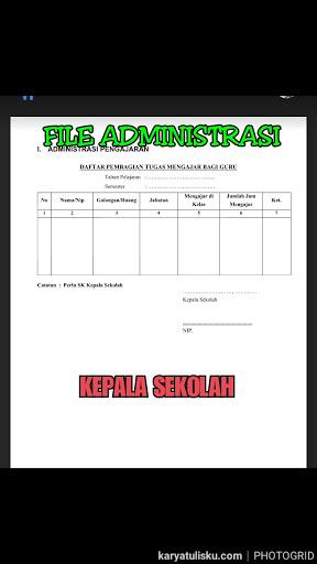 48 Contoh File Administrasi Kepala Sekolah Lengkap Ms Word