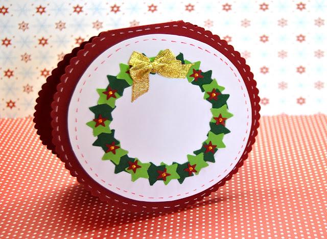 sencilla tarjeta para felicitar en esta navidad