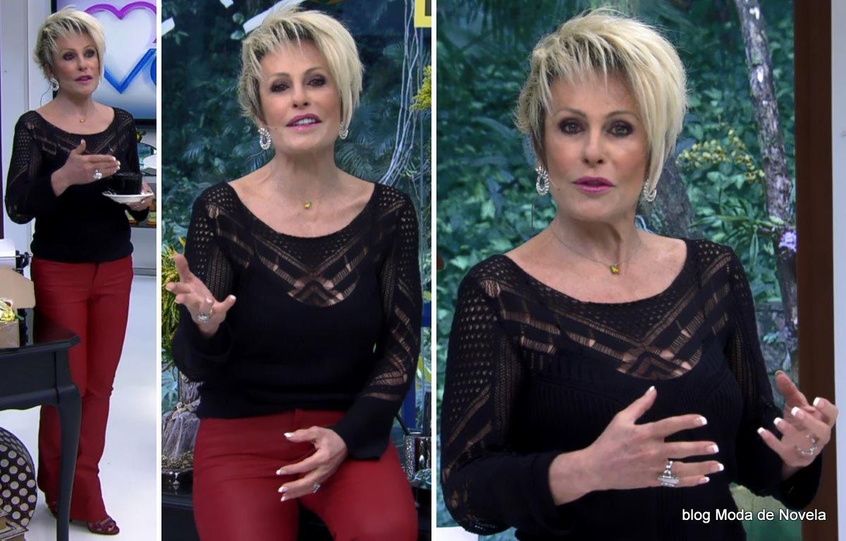 moda do programa Mais Você - look da Ana Maria Braga dia 1º de julho