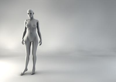 femme 3D pose naturelle SP 04
