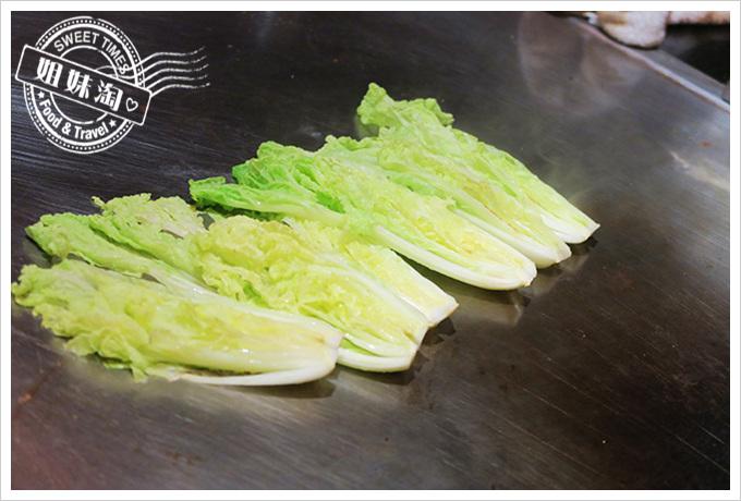 家蒂諾鐵板燒 溫莎花園 鐵板燒 炒青菜
