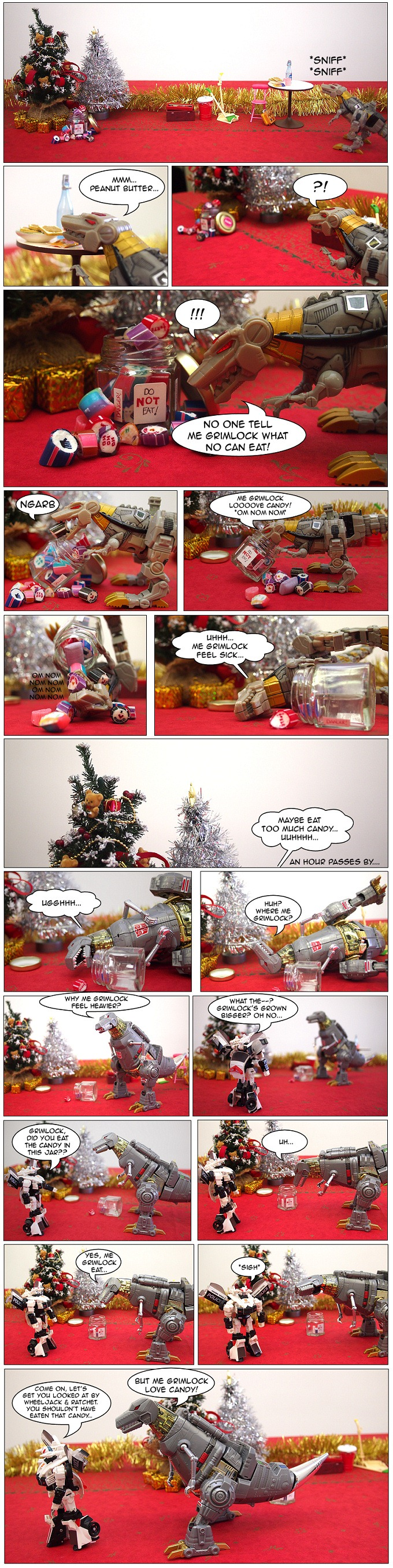 grimlock is a growing dinobot - my toys are alive 13 transformers fan comics featuring dinobot grimlock candy and prowl