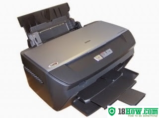 How to reset flashing lights for Epson R265 printer