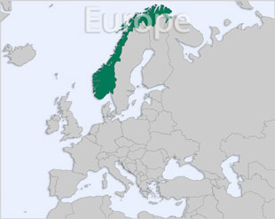 Norway location map