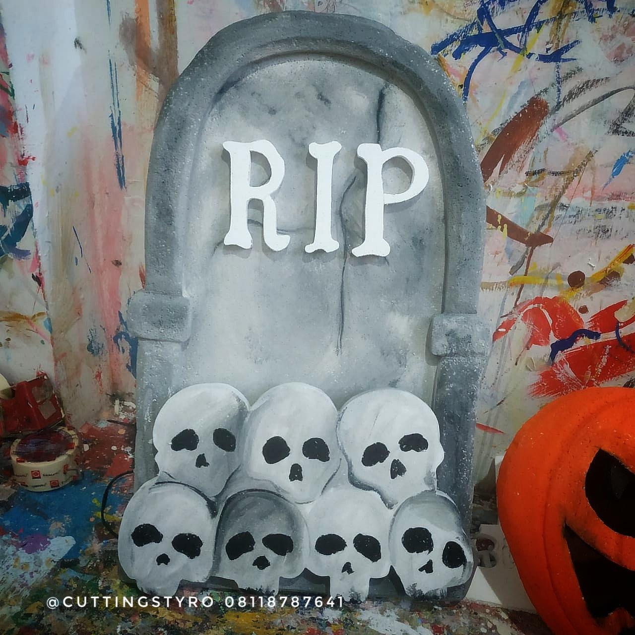 dekorasi halloween menggunakan styrofoam lebih murah dan bagus