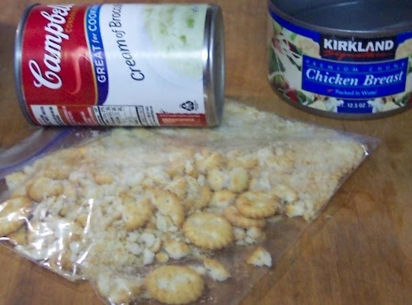 Crunch the buttery crackers. Put crackers on a plastic bag, and crush. I use...
