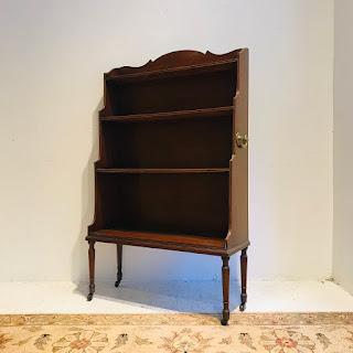 Mahogany Shelf on Casters