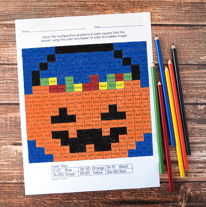 Free Printable Halloween Multiplication Worksheets