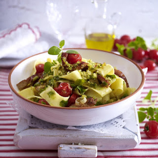 Pesto Pappardelle with Pork.