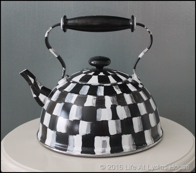 a painted teapot