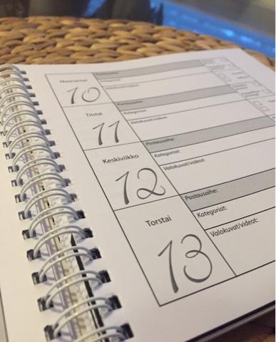 Bloggaajan kalenteri
