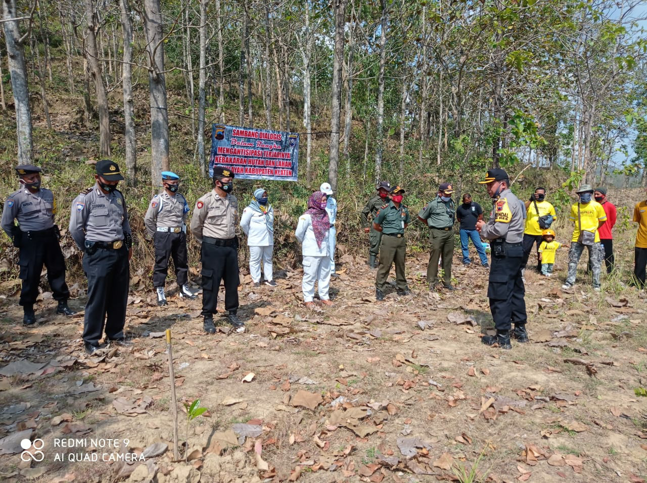 Sambang Dialogis Di Gunung Gajah, Poles Klaten Ajak Warga Jaga Hutan Dari Kebakaran
