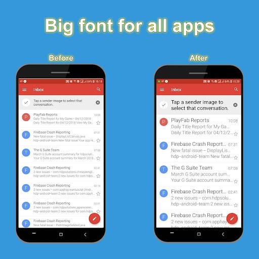 Big font - Enlarge font size App Report on Mobile Action