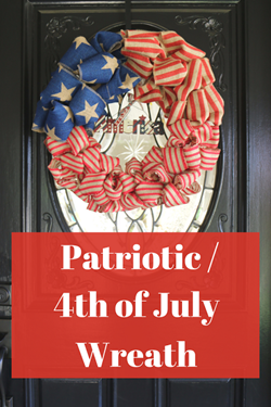 Patriotic_ 4th Of July Wreath Pinterest