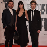 OIC - ENTSIMAGES.COM - Dave Berry, Lilah Parsons and George Shelley  at the  The BRIT Awards 2016 (BRITs) in London 24th February 2016.  Raymond Weil's  Official Watch and  Timing Partner for the BRIT Awards. Photo Mobis Photos/OIC 0203 174 1069