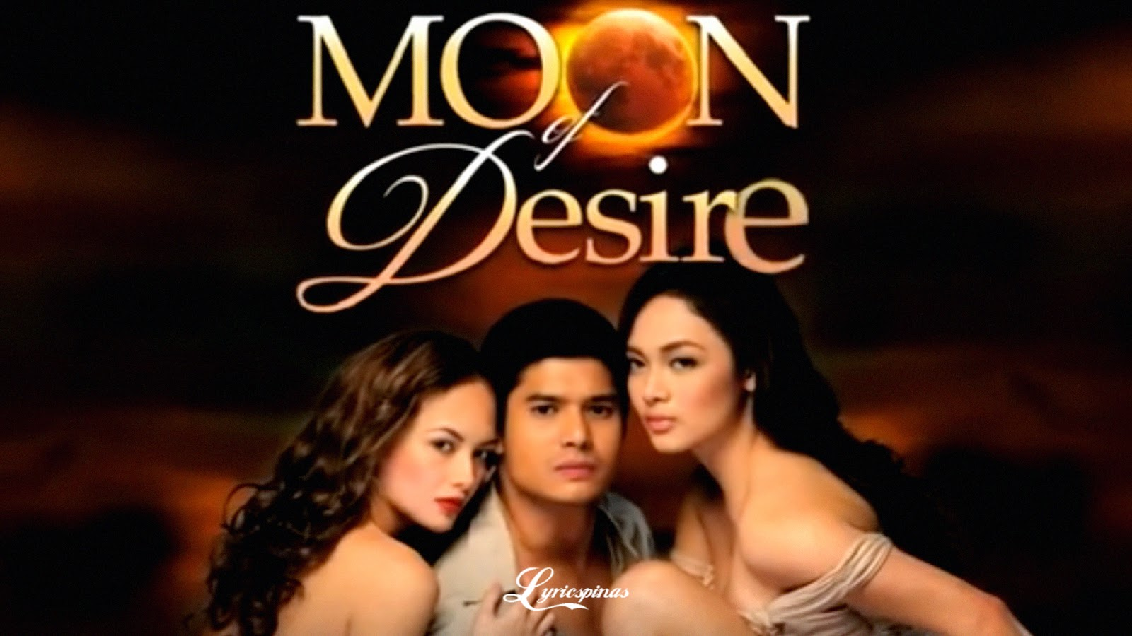Meg Imperial and JC de Vera, together with Ellen Adarna, Moon Of Desire TV Wallpaper