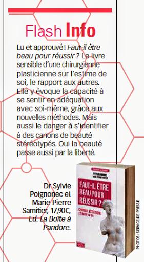 Sylvie POIGNONEC magazine Voici- Article du magazine Voici: 24 au 30 juillet 2015, n°1446