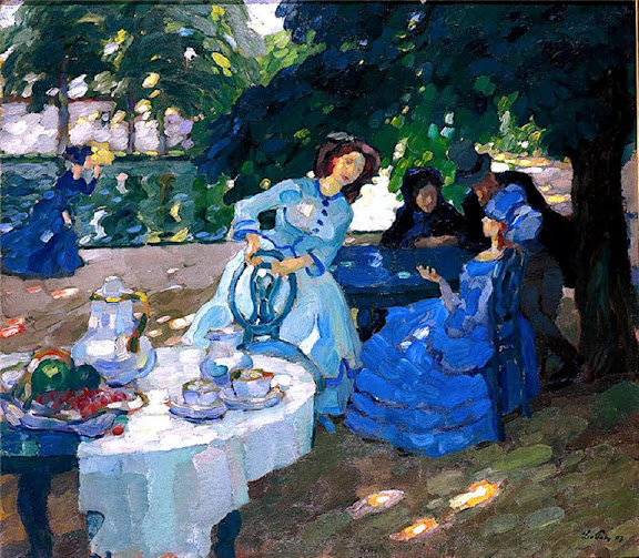 Leo Putz - Breakfast in the Garden