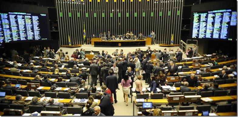 Brasília - Plenário da Câmara durante início da discussão para votação da PEC da lei do Trabalho Escravo