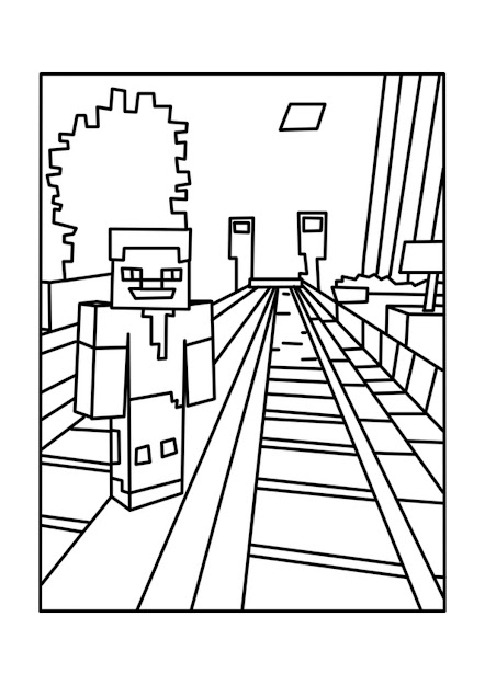 Free Printable Minecraft Mobs Coloring Pages