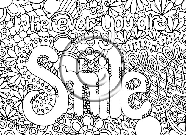 Digital Download Coloring Page Hand Drawn Zentangle Inspired Abstract  Zendoodle Hippie  Via Etsy