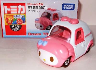 Đồ chơi Mô hình Dream Tomica xe hình Thỏ My Melody của hãng Takara Tomy Nhật Bản