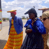 Notice the style of hats worn in Botswana