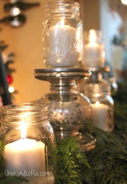 Candle mason jar centerpiece
