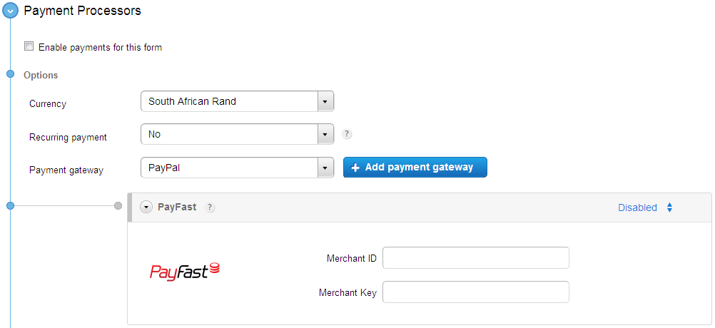 PayFast payment gateway integration