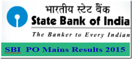 SBI PO mains 2016 results