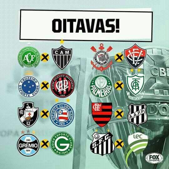 A Confederação Brasileira de Futebol sorteou os confrontos das oitavas de  final da Copa do Brasil de 2018 nesta sexta-feira na sede da entidade c553ccb2527b4