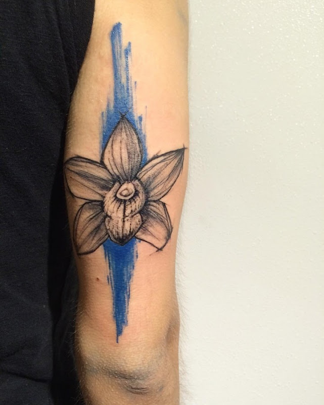 esta_linda_orqudea_esboço_estilo_de_tatuagem
