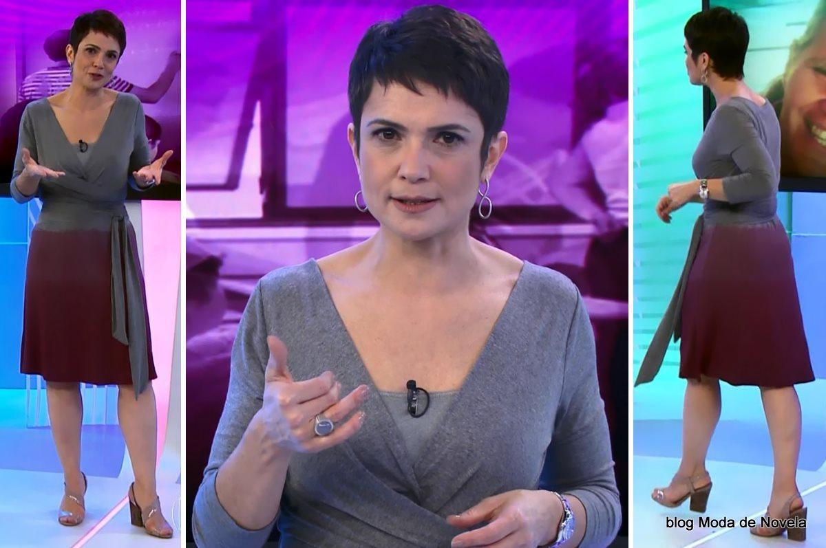 moda do programa Globo Cidadania - look da Sandra Annenberg dia 2 de agosto
