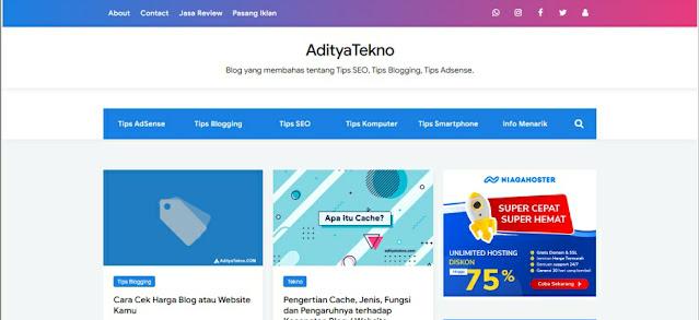AdityaTekno Blog Informasi Tutorial Blogging dan Tutorial Adsense Terbaru