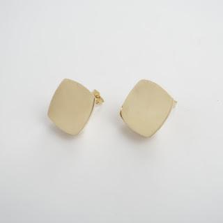 14K Gold Modernist Earrings